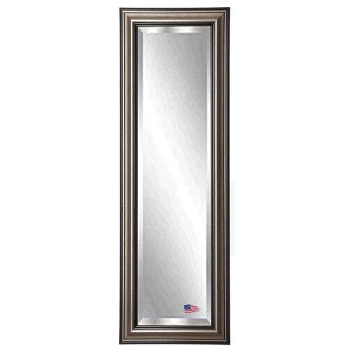 Silver wood frame mirror wayfair for Silver full length mirror