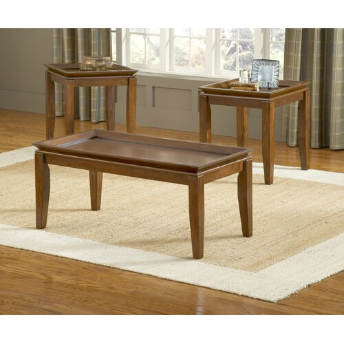 Bernards Pecan 3 Piece Coffee Table Set