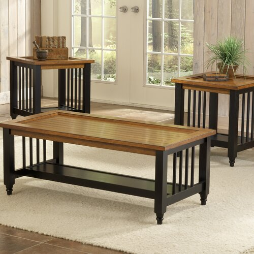 Bernards Blacksmith Country 3 Piece Coffee Table Set