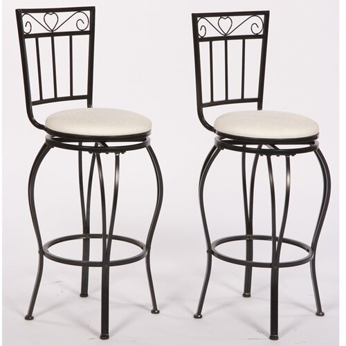 Gabriella Swivel Bar Stool with Cushion (Set of 2)