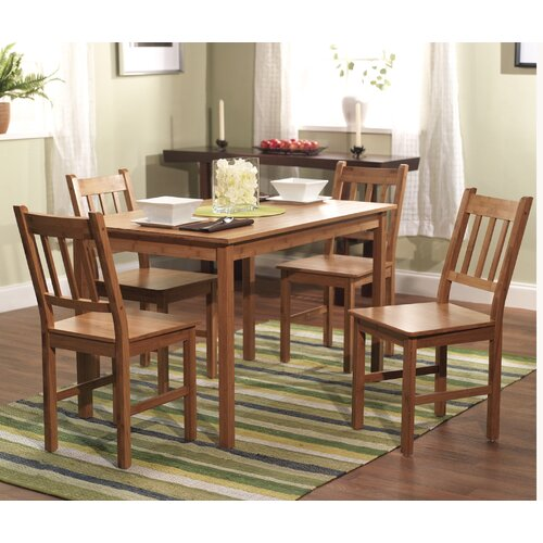 TMS Bamboo 5 Piece Dining Set I