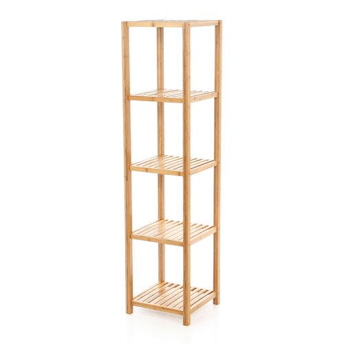 Bamboo 5 Tier Vertical Shelf