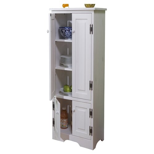 Tms pine extra tall cabinet reviews wayfair for Tall kitchen cabinets