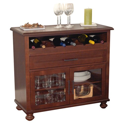 TMS Tivoli 8 Bottle Tabletop Bar Cabinet