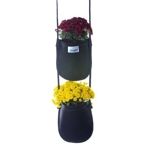 Geopot 2 Pocket Hanging Planter