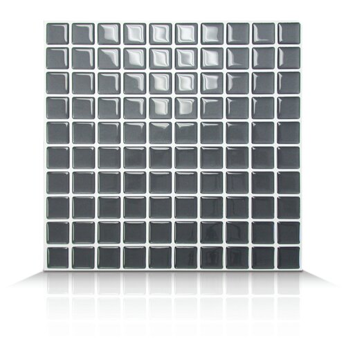 Mosaik Self Adhesive Wall Tile in Slate
