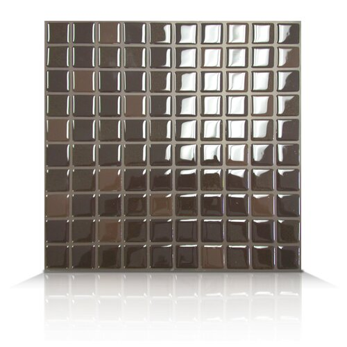 Mosaik Self Adhesive Wall Tile in Brownie (Set of 6)