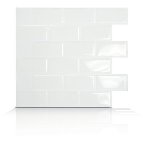 Mosaik Self Adhesive Wall Tile in Subway (Set of 6)