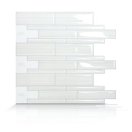 Mosaik Self Adhesive Wall Tile in Blanco (Set of 6)