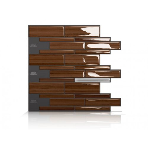 Mosaik Self Adhesive Wall Tile in Infinity Rosso (Set of 6)