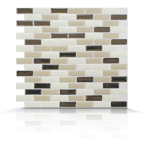 Mosaik Self Adhesive Wall Tile in Murano Dune