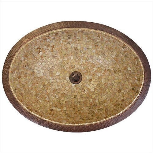 Large Oval Mosaic Bathroom Sink