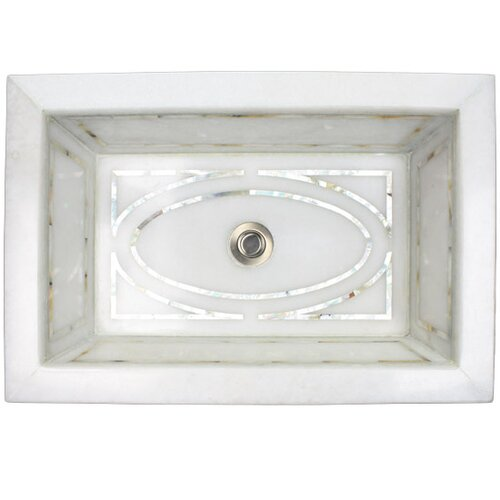 Graphic Mother of Pearl Inlay Undermount Bathroom Sink