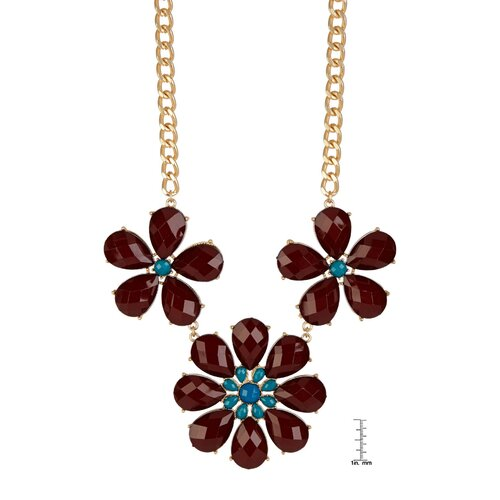 KC Signatures Floral Resin Necklace