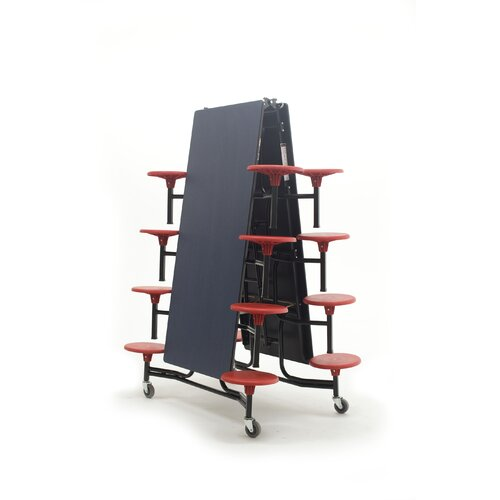 AmTab Manufacturing Corporation Mobile 16 Stool Table