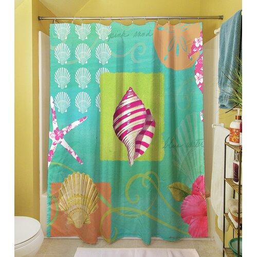 thumbprintz tropical beach shower curtain reviews wayfair