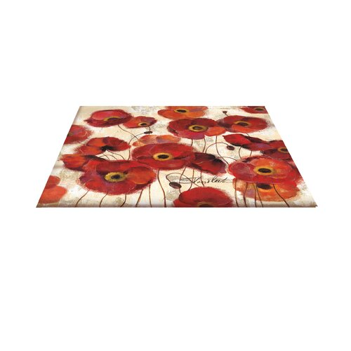 Thumbprintz Bold Poppies Red Area Rug Amp Reviews Wayfair