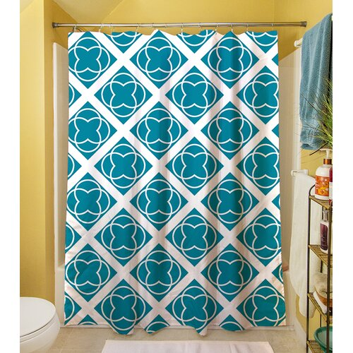 Modern Geometric Topaz Shower Curtain
