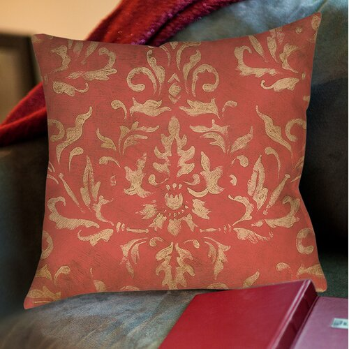 Golden Baroque Printed Pillow