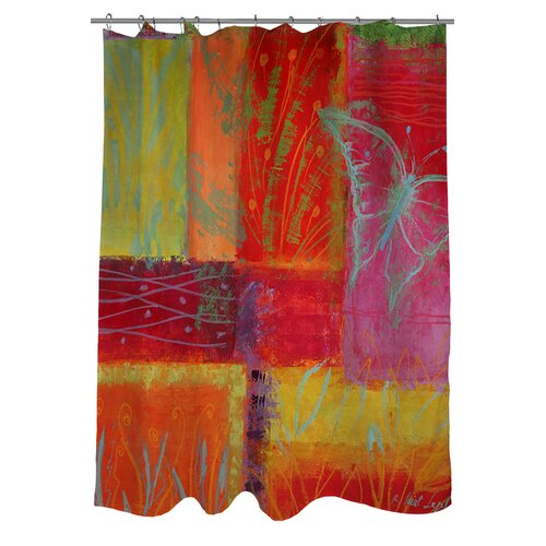 butterfly impressions polyester shower curtain wayfair