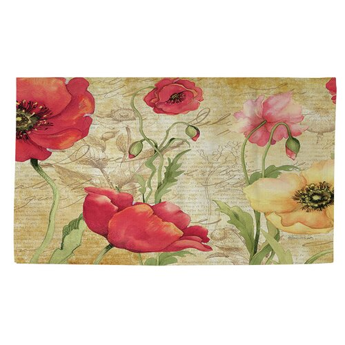 Red Poppy Kitchen Rug Uniquely Modern Rugs