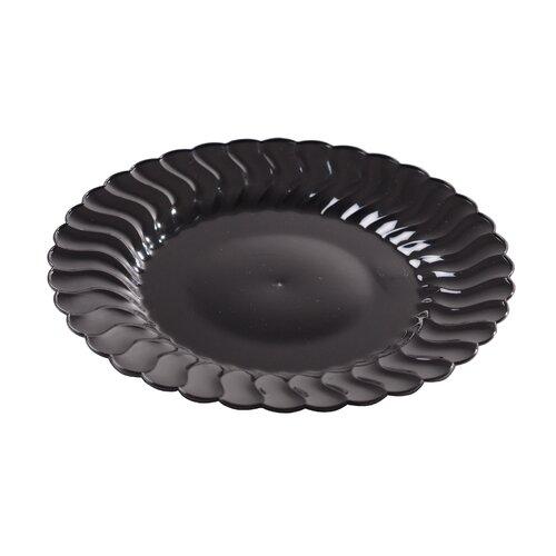 Flairware Round Rippled Disposable Plastic Salad Plate (180/Case)