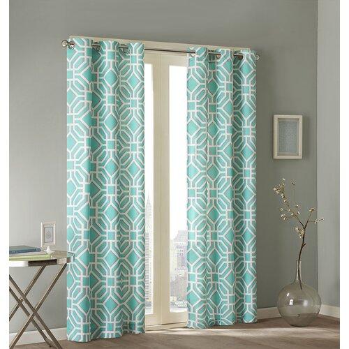 Intelligent Design Maci Pleated Single Curtain Panel
