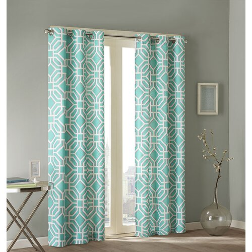 design maci pleated single curtain panel reviews wayfair