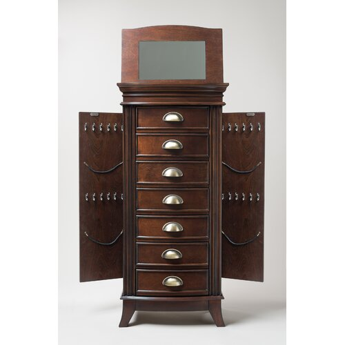 hives honey hillary jewelry armoire with mirror