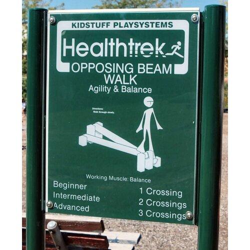 Kidstuff Playsystems, Inc. Opposing Beam Walk and Sign