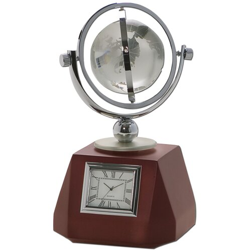 Dacasso Birchwood and Metal Global Clock