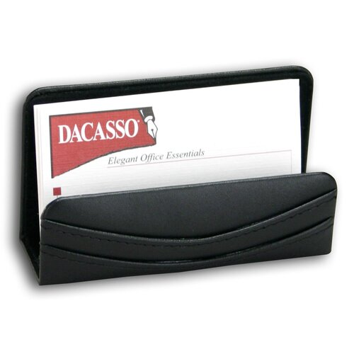 Dacasso 1000 Series Classic Leather Business Card Holder in Black