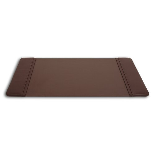 Dacasso 1000 Series Classic Leather 25.5 x 17.25 Side-Rail Desk Pad in Chocolate Brown