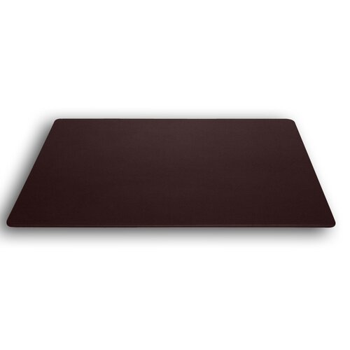 Dacasso 1000 Series Classic Leather 30 x 19 Desk Mat without Rails in Chocolate Brown