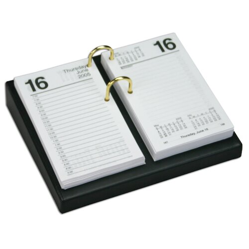 Dacasso 1000 Series Classic Leather 4.5 x 8 Calendar Holder Base in Black