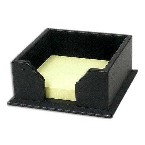 Dacasso 1000 Series Classic Leather 3 x 3 Note Holder in Black