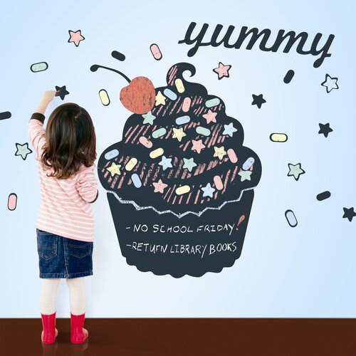 WallCandy Arts Chalkboards Cupcake 51 Piece Set