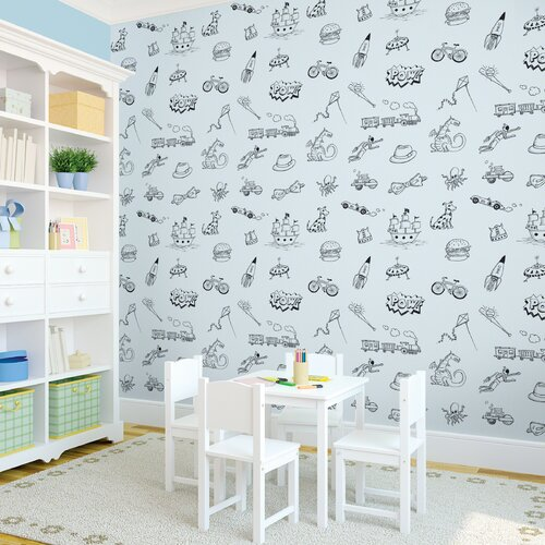 WallCandy Arts Doodle Removable Wallpaper