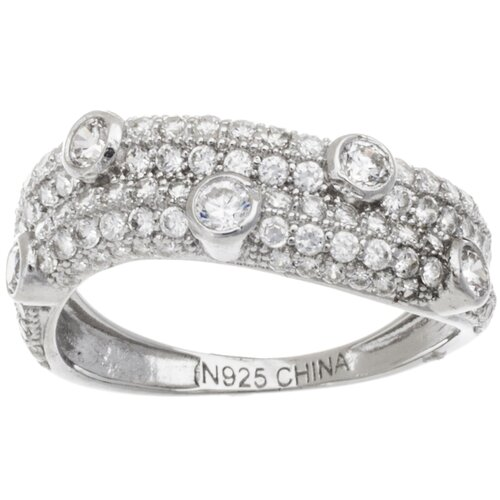 Sterling Silver Round Cut Cubic Zirconia Band Ring