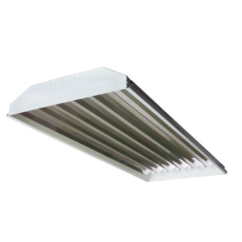 T8 High Bay Fluorescent Light Fixture: 6 Light High Bay Fluorescent Light Fixture With 32W T8