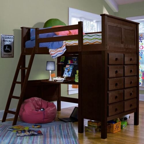 Kenai Loft Bed with Ladder