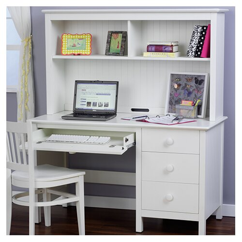 Madison Desk With Lighted Hutch Wayfair