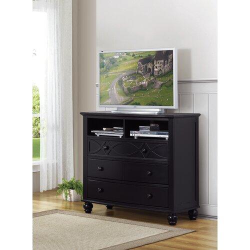 Woodbridge Home Designs Sanibel 4 Drawer Media Dresser