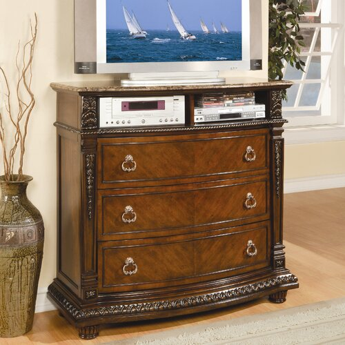 Woodbridge Home Designs Palace 3 Drawer Media Chest