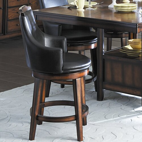 "Woodbridge Home Designs Bayshore 24"" Swivel Bar Stool"