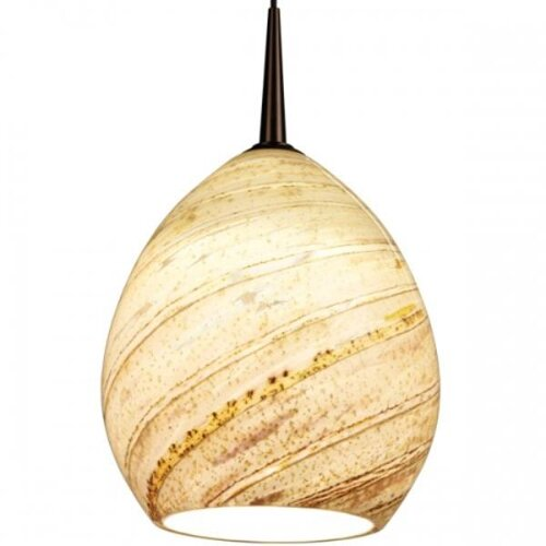 Vibe LED MP2 Pendant with Sea Shell Glass