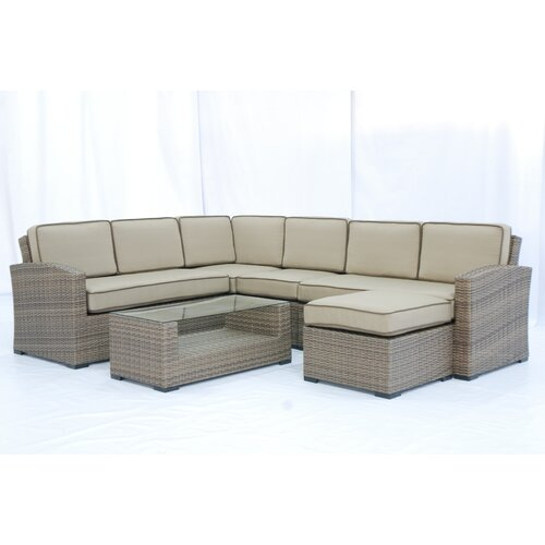 Creative Living Ferrara 7 Piece Sectional Deep Seating Group with Cushions