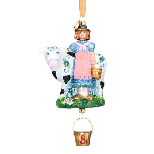 Eight Maids-A-Milking Ornament
