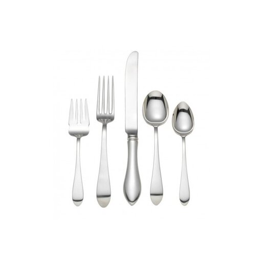 Pointed Antique 5 Piece Flatware Set