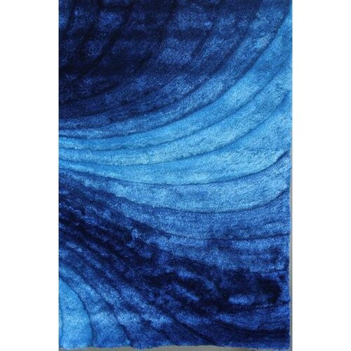 Rug Factory Plus Shaggy 3d Blue Area Rug Amp Reviews Wayfair